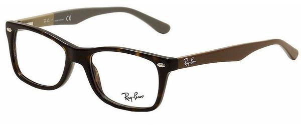 Ray-Ban RX5228 5545 (havanna/brown on beige-grey)