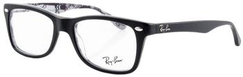 Ray-Ban RX5228 5405 (top black on texture)