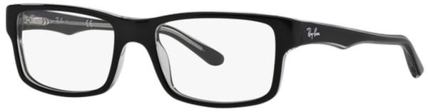 Ray-Ban RX5245 2034 (top black on transparent)