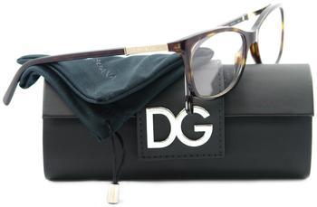 Dolce & Gabbana Logo Plaque DG3107 502 (havana)