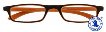 I NEED YOU Zipper Selection braun-orange, Kunststoff-Lesebrille (Dioptrien: +02.00 )