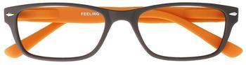 I NEED YOU Feeling, braun-orange Kunststoff-Lesebrille Dioptrien, +02.00 )