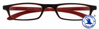 I Need You Zipper Selection schwarz-rot, Kunststoff-Lesebrille (Dioptrien: +02.50 -