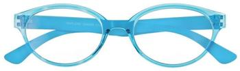 I NEED YOU Marlene Hellblau Retro-Kunststoffbrille Dioptrien +02.00)