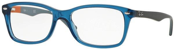 Ray-Ban RX5228 5547 (blue crystal/gun on orange-grey)