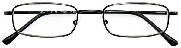 I NEED YOU Lesebrille Club M+2.50 DioptrienAntik Silber