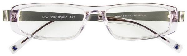 I Need You Lesebrille New York G36400 +1.00 DPT kristall silber