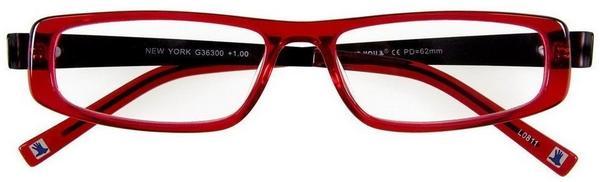 I NEED YOU Lesebrille New York G36300 +1.00 DPT rot schwarz