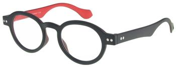 I NEED YOU Doktor Selection Anthrazit-Rot Retro-Kunststoffbrille Dioptrien +02.00)