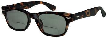 I NEED YOU Woody Sun-Bi Braun, mit G15 Retro-Bifokal-Sonnenbrille Dioptrien +02.50)