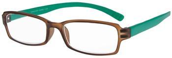 I NEED YOU Hangover Braun-Türkis Kunststoffbrille Dioptrien +01.50)