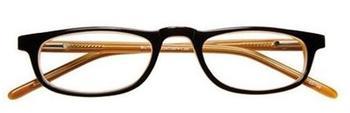 I NEED YOU Butler Braun-Orange, Acetatbrille Dioptrien +03.00)