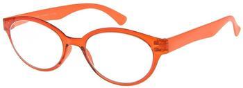 I NEED YOU Marlene Orange Retro-Kunststoffbrille Dioptrien +03.00)