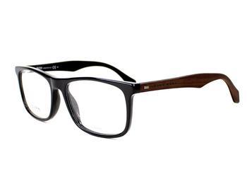 Hugo Boss 0779 RAJ (black shiny/dark brown on black)