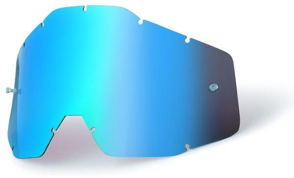 100% RACECRAFT/ACCURI/STRATA Blue Mirror Replacement Lens