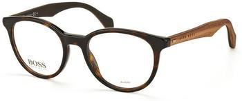 Hugo Boss 0778 RAH (dark havana/brown wood on brown)
