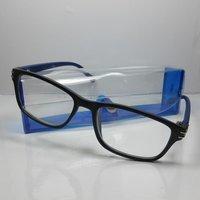 Michel Toys Stylische Designer Lesebrille +3,0 Diop. Lesehilfe mit Etui blau unisex Sehhilfe