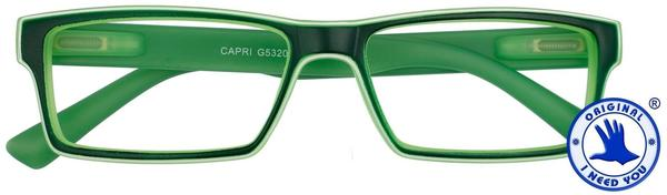 I NEED YOU Lesebrille Capri G53200 +3.00 DPT grün