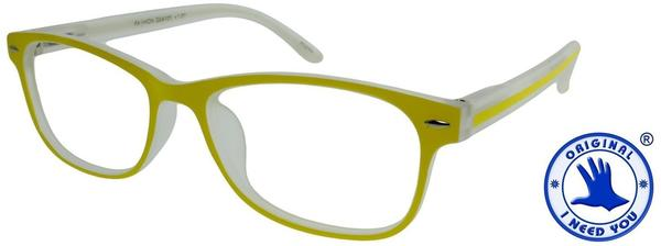 I NEED YOU Lesebrille Fashion G54100 +3.00 DPT gelb inkl. Etui