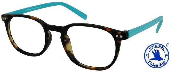 I NEED YOU Lesebrille Junior Selection G55700 +1.00 DPT havanna türkis inkl. Etui