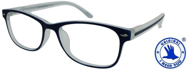 I NEED YOU Lesebrille Fashion G53800 +3.00 DPT blau inkl. Etui