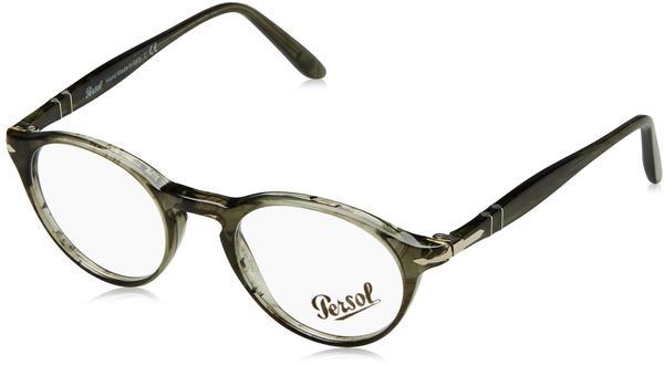 Persol PO3092V 1020 grau Kunststoff Panto,Rund Damen,Herren Brille in 48-19 (klein)