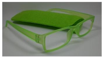 N N Lesebrille Neon +1.00 DPT grün inkl. Etui