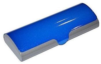 Optotec zweifarbiges Aluminium Brillenetui SUSI blau-grau