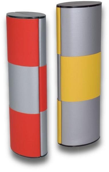 Zauberetui | Logic | Change Brillenetui - Medium lang silber - rot/gelb