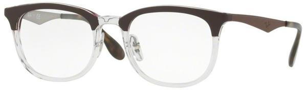 Ray-Ban RX7112 5685 (transparent shiny/brown)