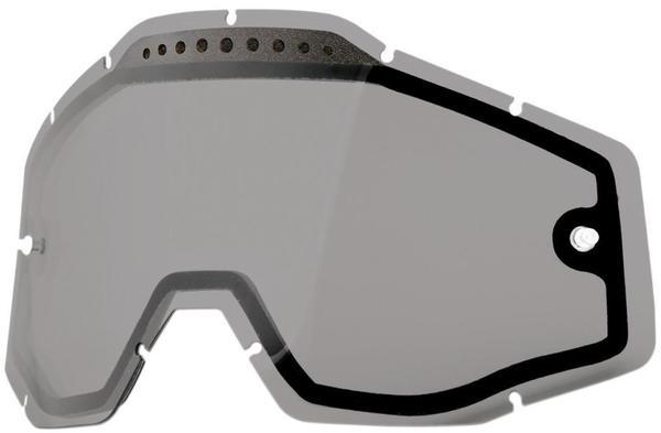 100% Racecraft/Accuri/Strata Ersatzglas dual smoke Brillenzubehör