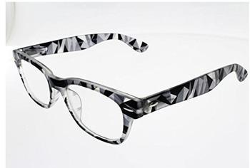 I NEED YOU Woody Crazy schwarz Kunststoff-Lesebrille (Dioptrien: +02.00
