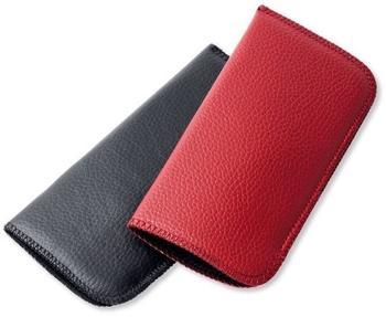 """Victoria Etuis Brillenetui """"SLIPIN"""" in rot oder schwarz   weiches Einstecketui   schwarz"""
