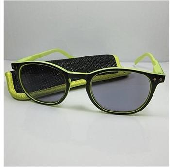Kost Lesebrille Sonnebrille +1.00 DPT gelb schwarz inkl. Etui