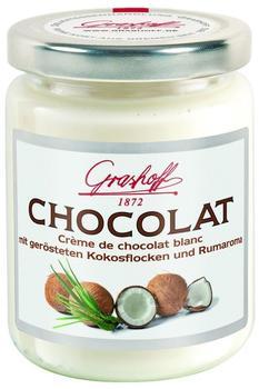 Grashoff Creme de chocolat blanc mit Kokosflocken und Rumaroma (235 g)