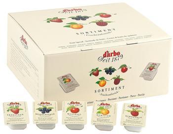Darbo Fruchtaufstrich 100 Portionen Mix Sortiment (100x25g)