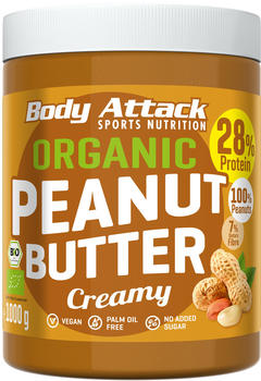 Body Attack Organic Peanut Butter Creamy (1kg)