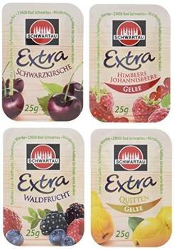 Schwartau Extra Gelee/Konfitüre Frühstücks-Portionen Mix (100x25g)