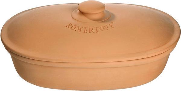 Römertopf Brottopf oval terracotta
