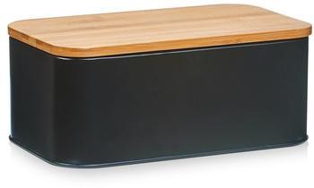 Zeller Brotkasten mit Bamboo Deckel 31 x 18 x 12,5 cm (schwarz)