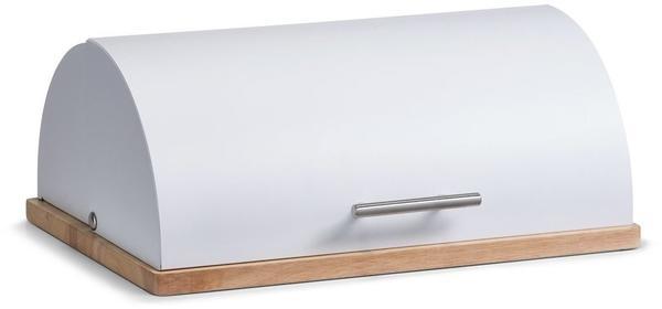 Zeller Brotkasten, Metall/Gummibaum (27283) weiß