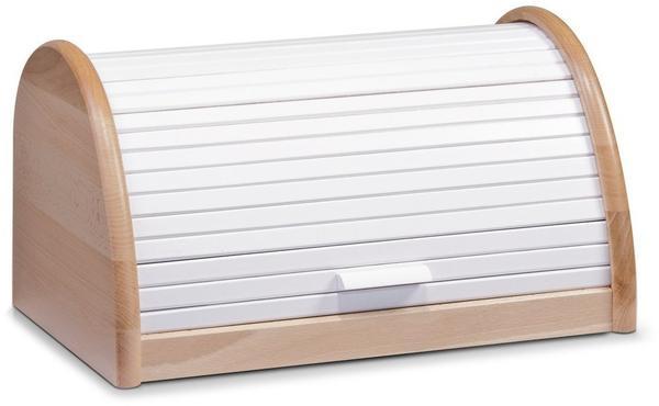 Zeller Brotkasten Buche 39 x 25 x 21 cm Weiß