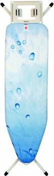 Brabantia Streckmetall-Bügeltisch mit Dampfstopmulde 124 x 38 Ice Water