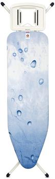 brabantia Bügeltisch B 124x38 cm mit Dampfstopmulde Solide Ice Water (108501)