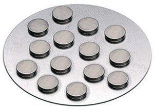 KnorrPrandell Magnete auf Metallplatte