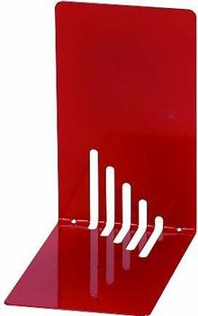 Maul Buchstütze Metall schmal 14x8,5x14cm rot