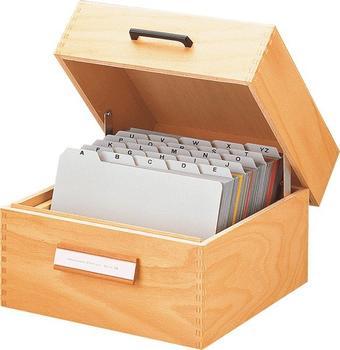 HAN Karteikasten Holz A6 quer für 900 Karten