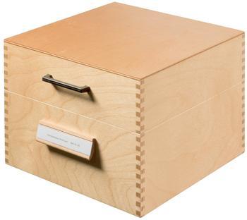 HAN Karteikasten Holz A5 quer für 900 Karten
