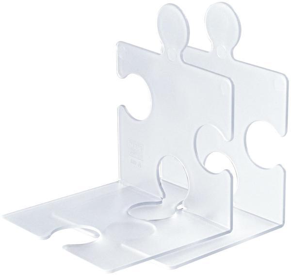 HAN Buchstütze Puzzle 2er Set klar-transluzent