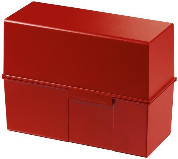 HAN Karteikasten A5 quer Kunststoff rot